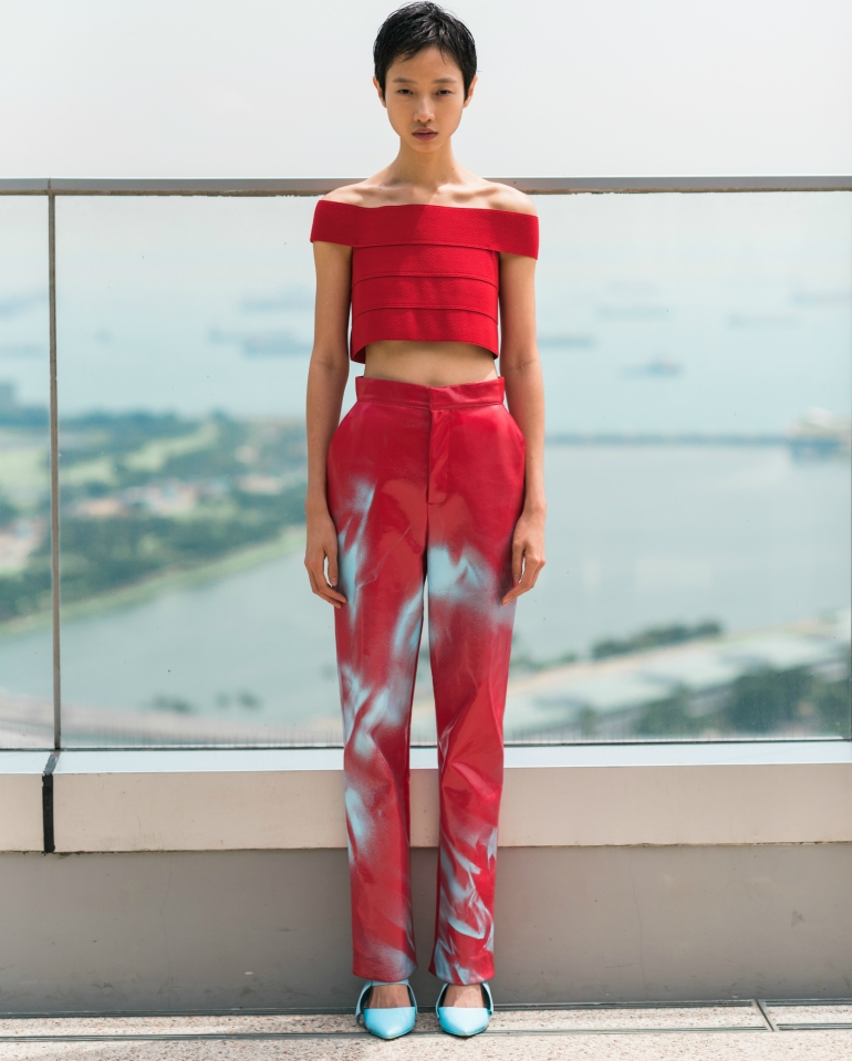 helsinki now finland fashion runway show singapore WOMENSWEAR RED