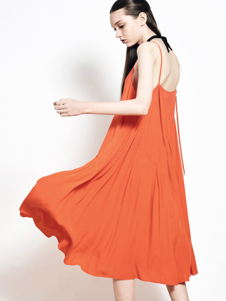 best singapore fashion brands IN GOOD COMPANY ORANGE DRESS