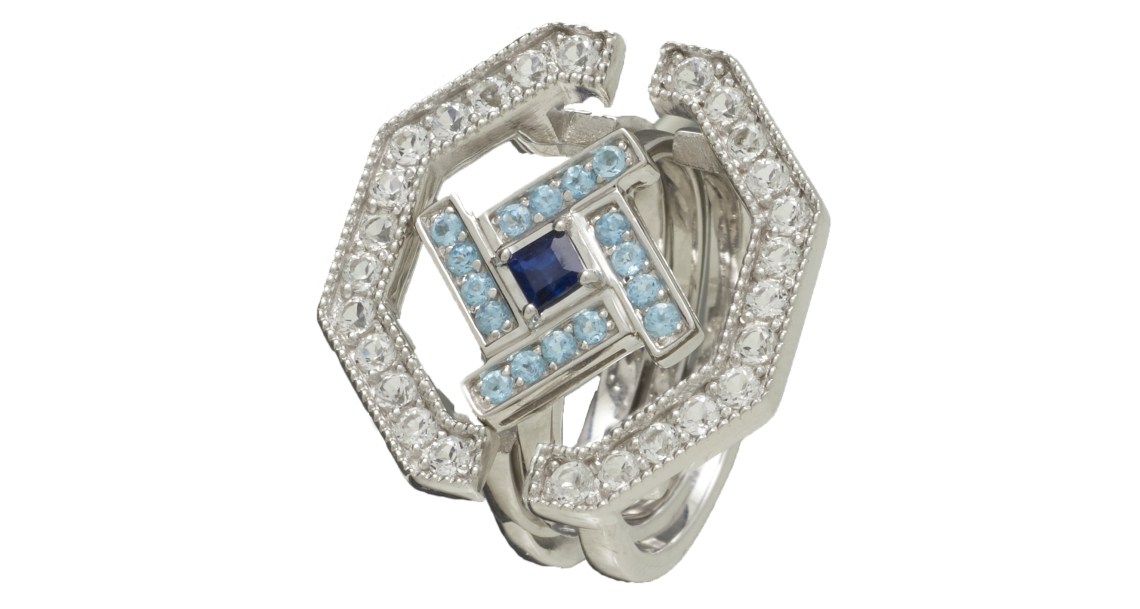 singapore jeweller carrie k heritage fine jewellery collection Heritage Styled Ring Sapphire